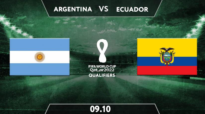 World Cup Qualifiers Match Prediction between Argentina vs Ecuador