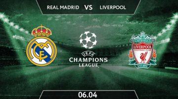 UEFA Champions League Match Prediction Between Real Madrid vs Liverpool